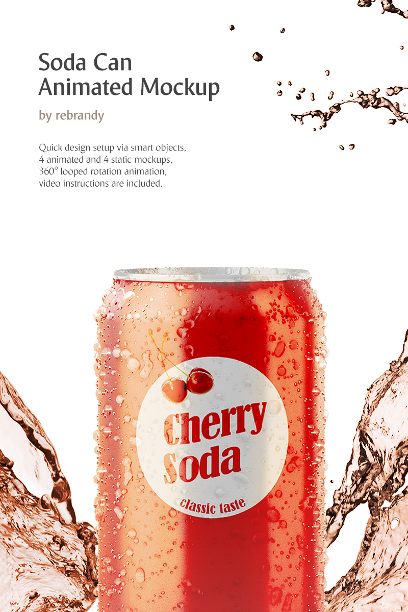 Soda Can Animated Mockup de Produto №69060