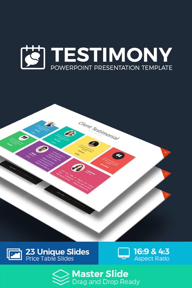 Szablon PowerPoint Testimony Presentation #69093