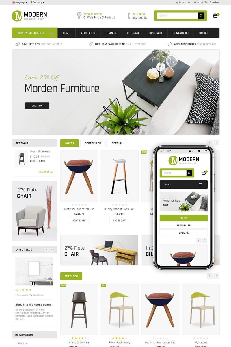 Tema opencart 69063 per un sito di arredamento e design for Siti di design e arredamento