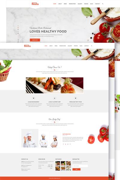 Spanish Restaurant Responsive Template Siti Web