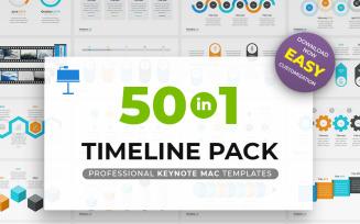 Timeline Pack 50 in 1 - Keynote template