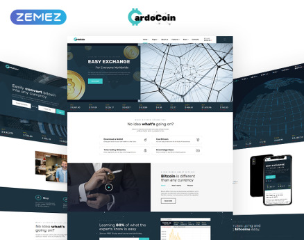 CardoCoin - Bitcoin Multipage HTML5 Website Template