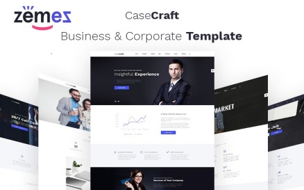 CaseCraft - Elegant Financial Company Multipage Website Template
