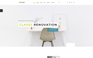 Interics - Interior Design Joomla Template