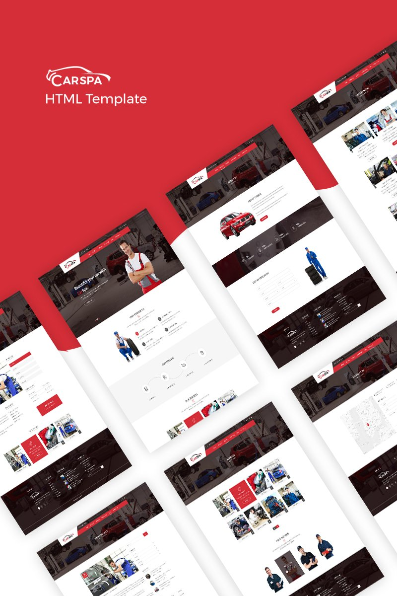 Carspa - Car Wash Website Template