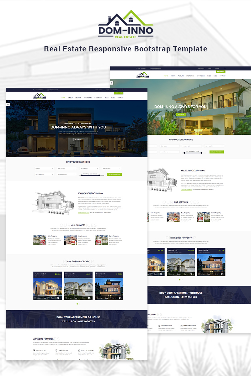 Dominno - Real Estate Responsive Website Template