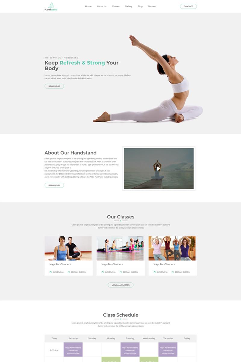 """Handstand - Gym & Fitness"" Responsive Website template №69187"
