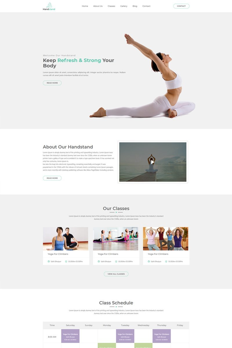 Handstand - Gym & Fitness Template Web №69187
