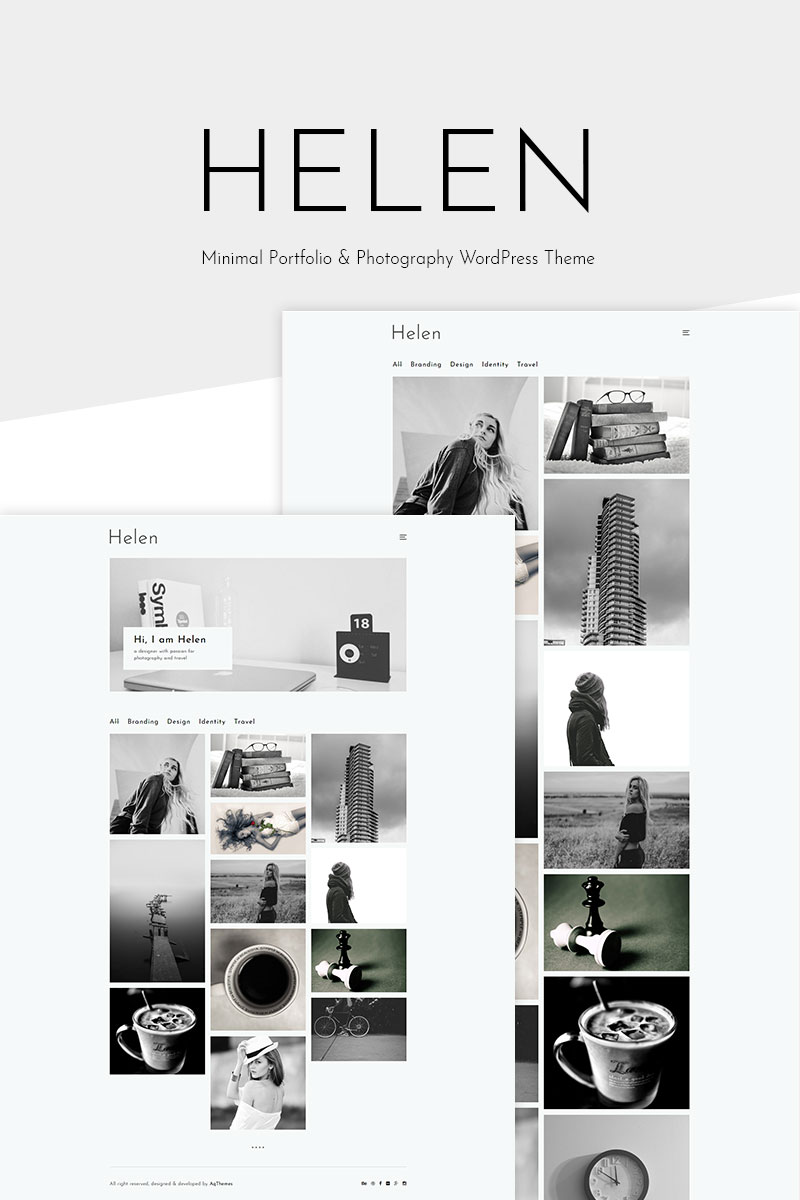 """Helen - Minimal Portfolio & Photography"" WordPress thema №69176"
