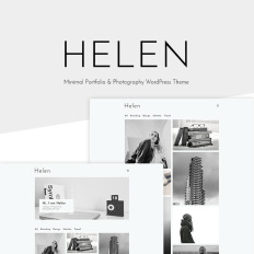 Web designer business card wordpress themes template monster helen minimal portfolio photography wp theme reheart Image collections