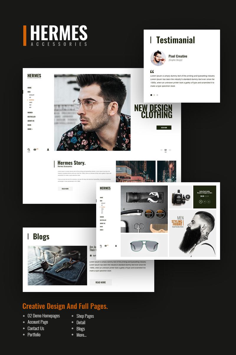 Hermes-accessoires - E-commerce PSD-sjabloon