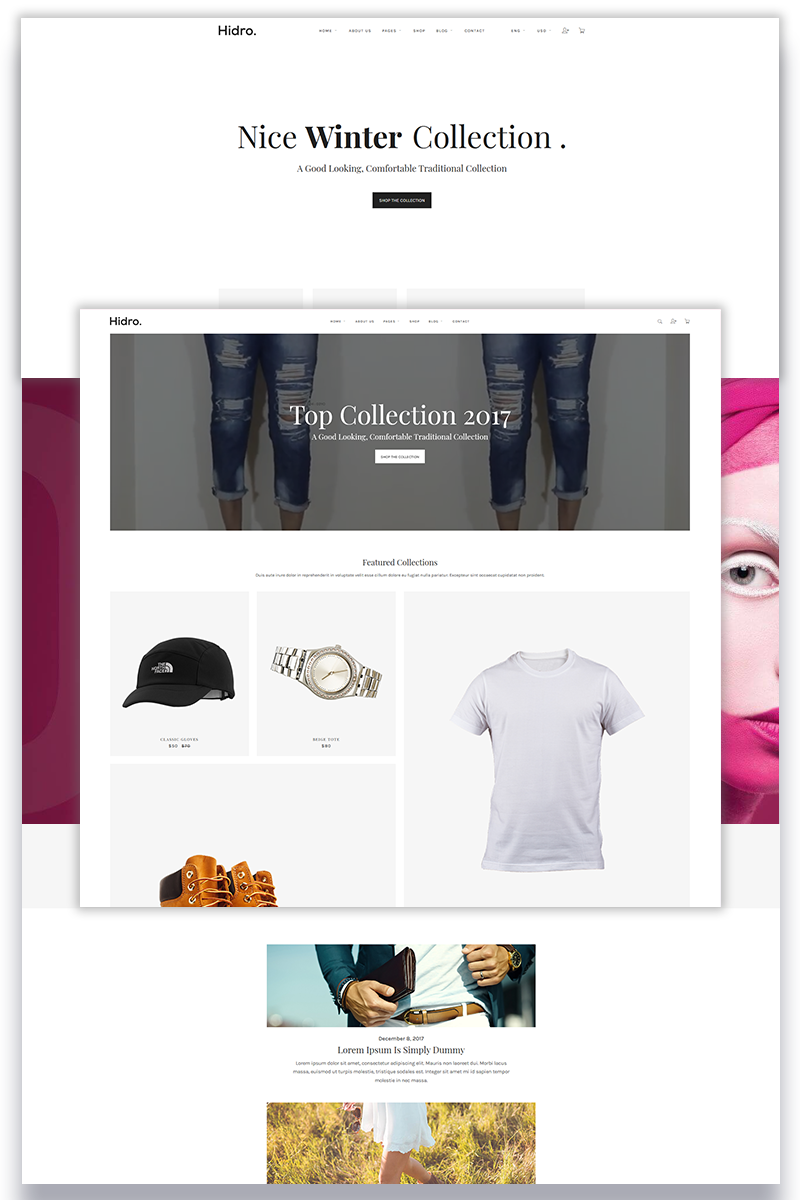 Hidro - Minimal eCommerce Website Template - screenshot