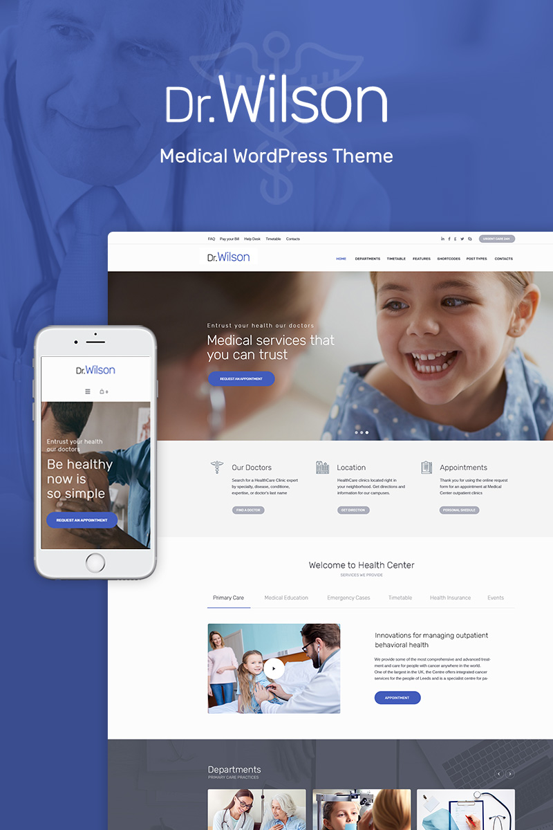 Responsivt Doctor Wilson - WordPress-tema #69101