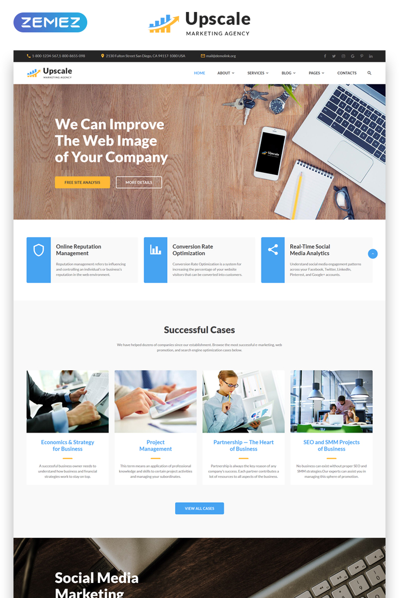 Upscale - Modern Marketing Agency Multipage №69162