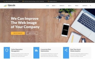 Upscale - Modern Marketing Agency Multipage Website Template