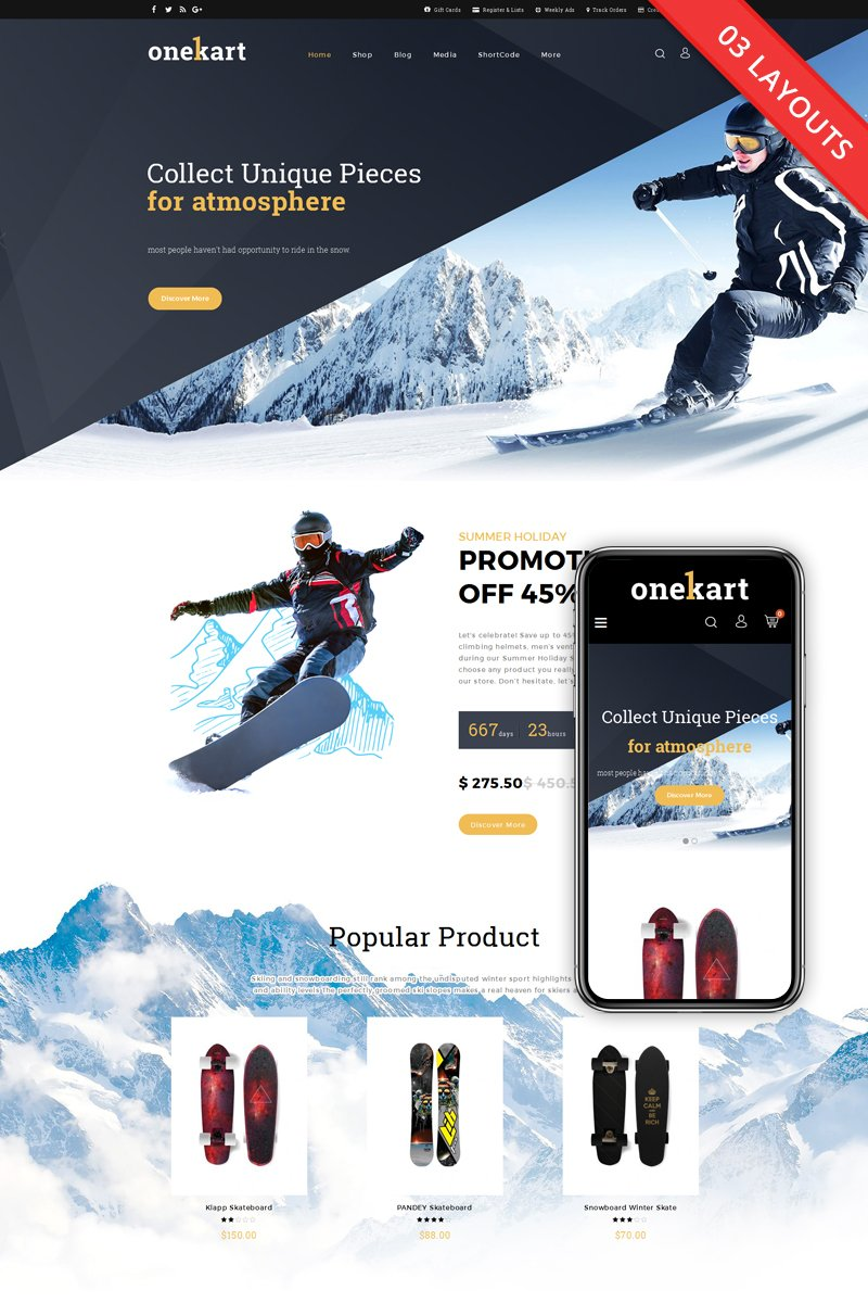 website template 69229 snowboard ice skating custom website
