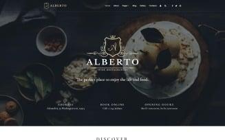 Alberto - Restaurant Responsive Classy Joomla Template