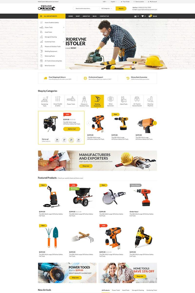 """Modello WooCommerce Responsive #69203 """"Tools"""""""