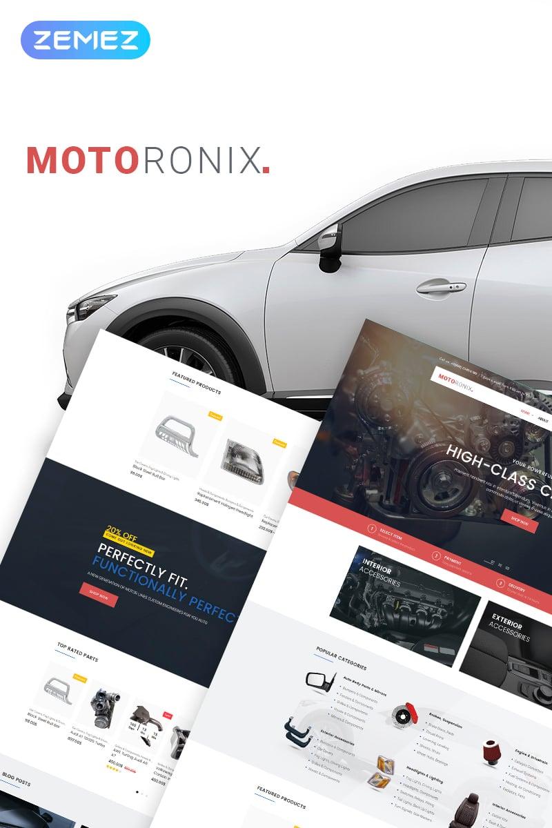 """Motoronix - Car Parts WooCommerce Elementor"" - адаптивний WooCommerce шаблон №69253"