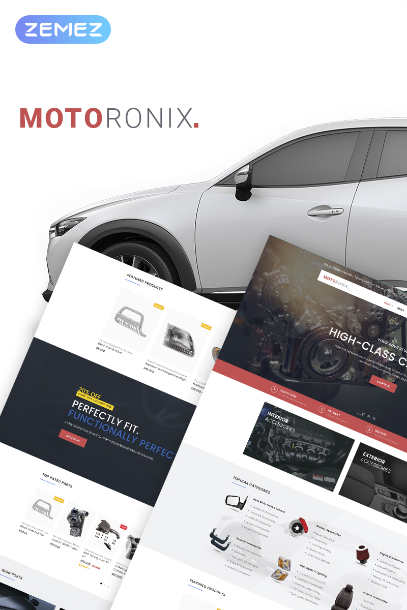 Motoronix - Car Parts WooCommerce Theme