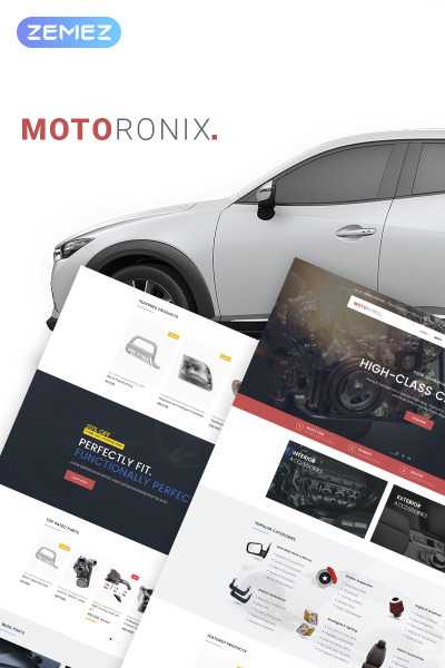 Motoronix - Car Parts WooCommerce Elementor