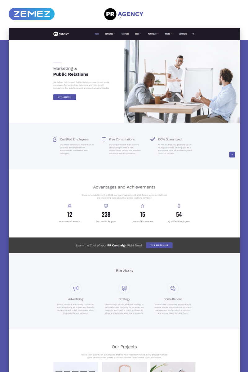 PR Agency - Public Relations Agency Multipage №69254