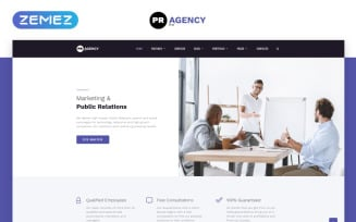 PR Agency - Public Relations Agency Multipage Website Template
