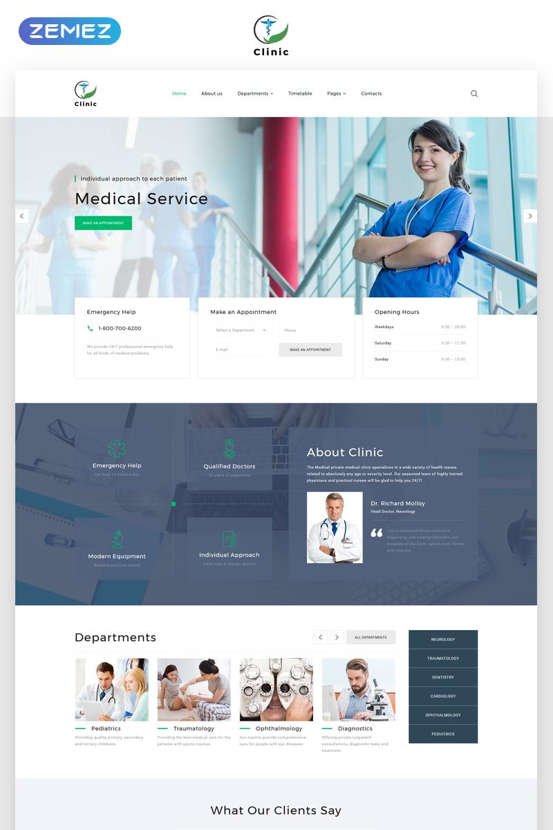 Responsywny szablon strony www Clinic - Medical Service Multipage HTML5 #69211 - zrzut ekranu