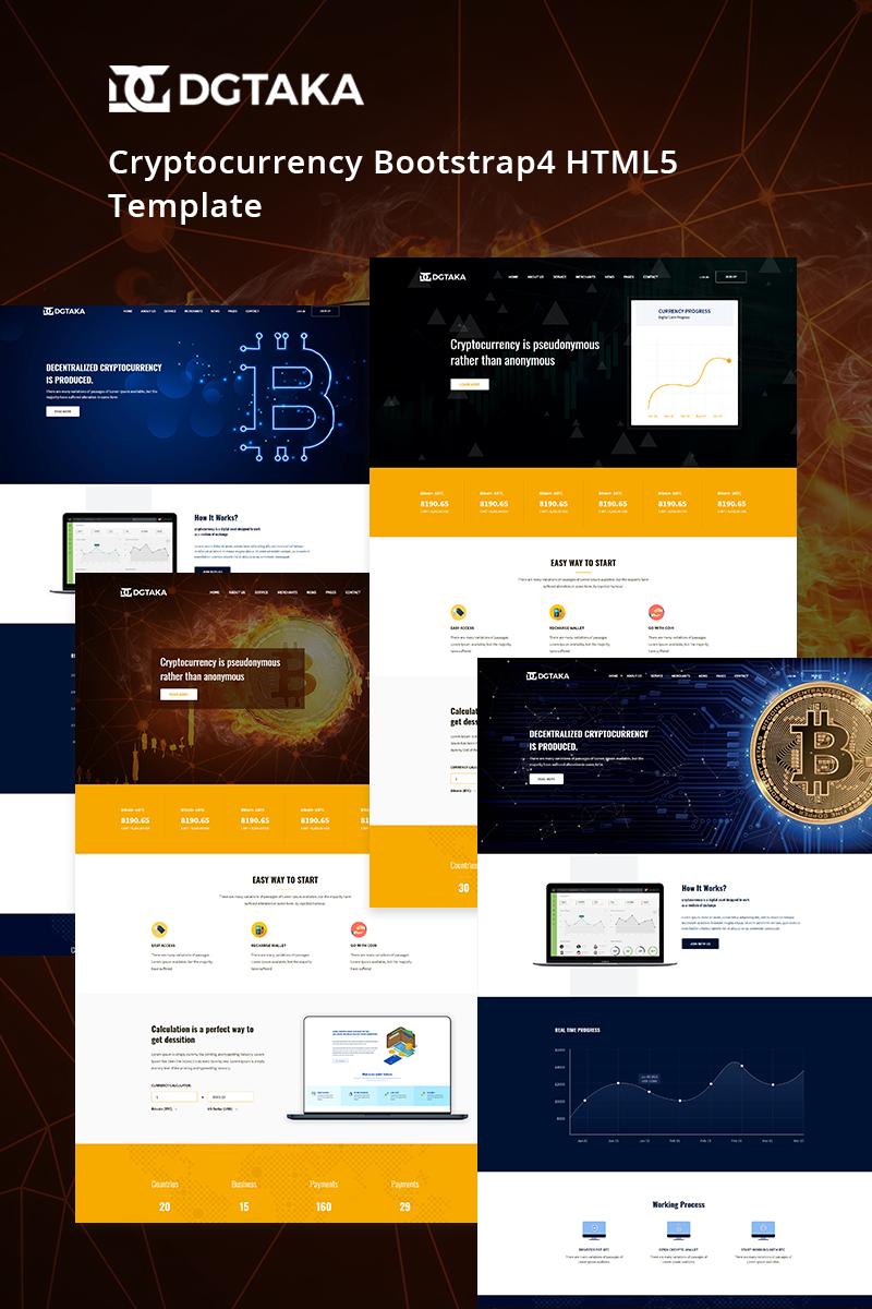 Reszponzív Dgtaka - CryptoCurrency Weboldal sablon 69202