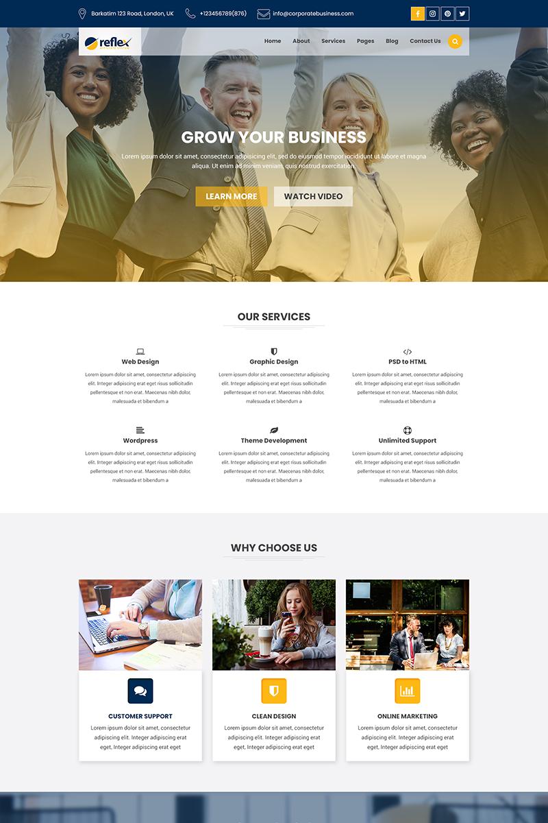 Reszponzív Reflex - Corporate Business and Agency PSD sablon 69209