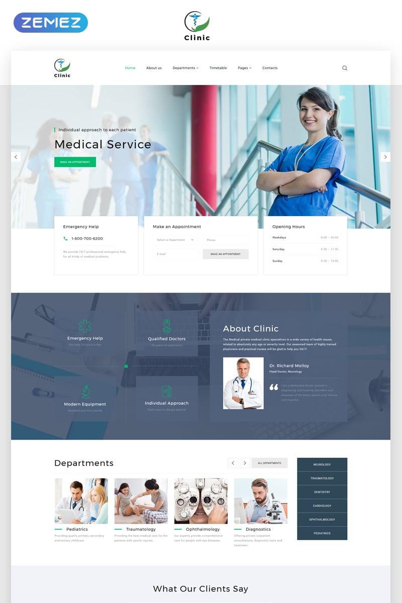 "Template Siti Web Responsive #69211 ""Clinic - Medical Service Multipage HTML5"" - screenshot"