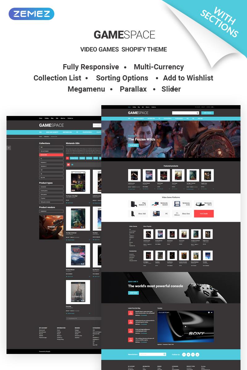 Website Template #69315 Video Games Ecommerce Custom Website