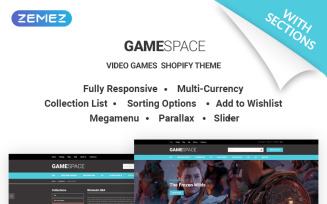 Game Space - Cool Video Games Store Shopify Theme