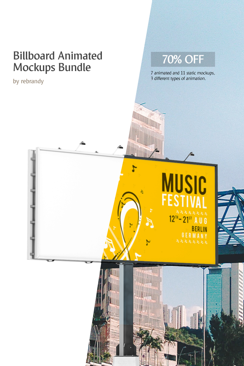 """Billboard Animated Mockups"" Bundle #69321"