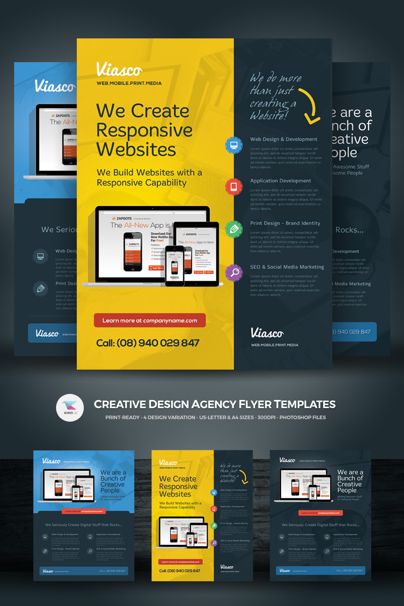 creative design agency flyer corporate identity template