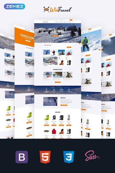 Адаптивный HTML шаблон №69363 на тему катание на лыжах