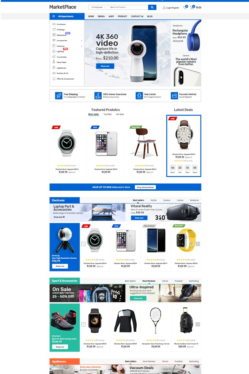 Market Place WooCommerce Theme - screenshot