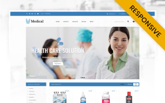 Medical Store OpenCart Template