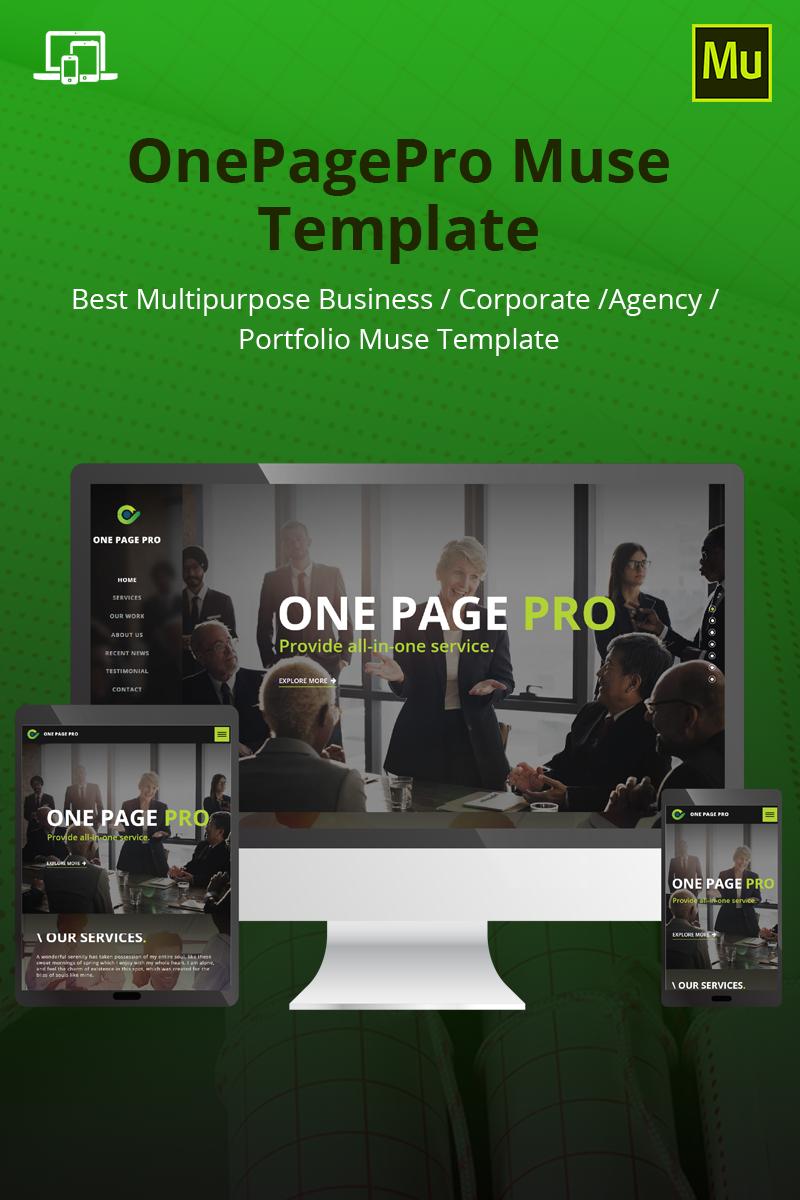 """""""OnePagePro"""" modèle Muse adaptatif #69309"""