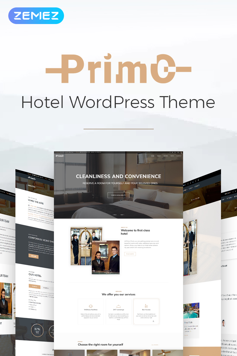 Primo - Hotel WordPress Theme