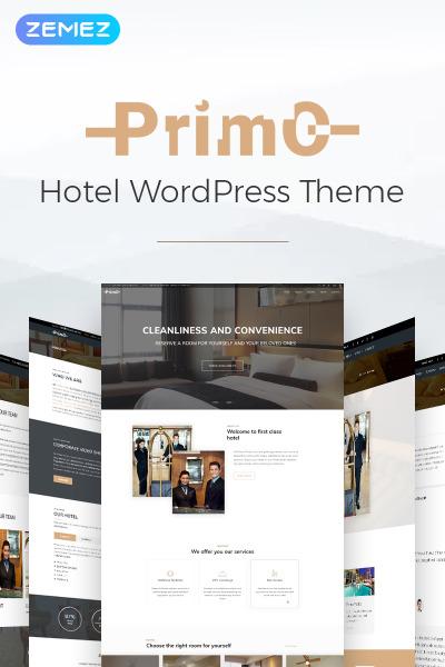 Flexível tema WordPress №69389 para Sites de Hotéis