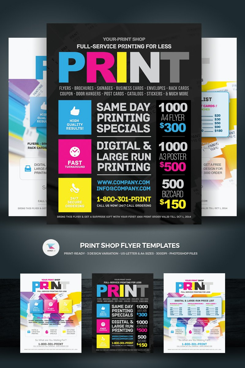 Print Shop Flyer Corporate Identity Template 69355