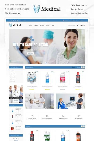Alternative Medicine Responsive OpenCart Şablon