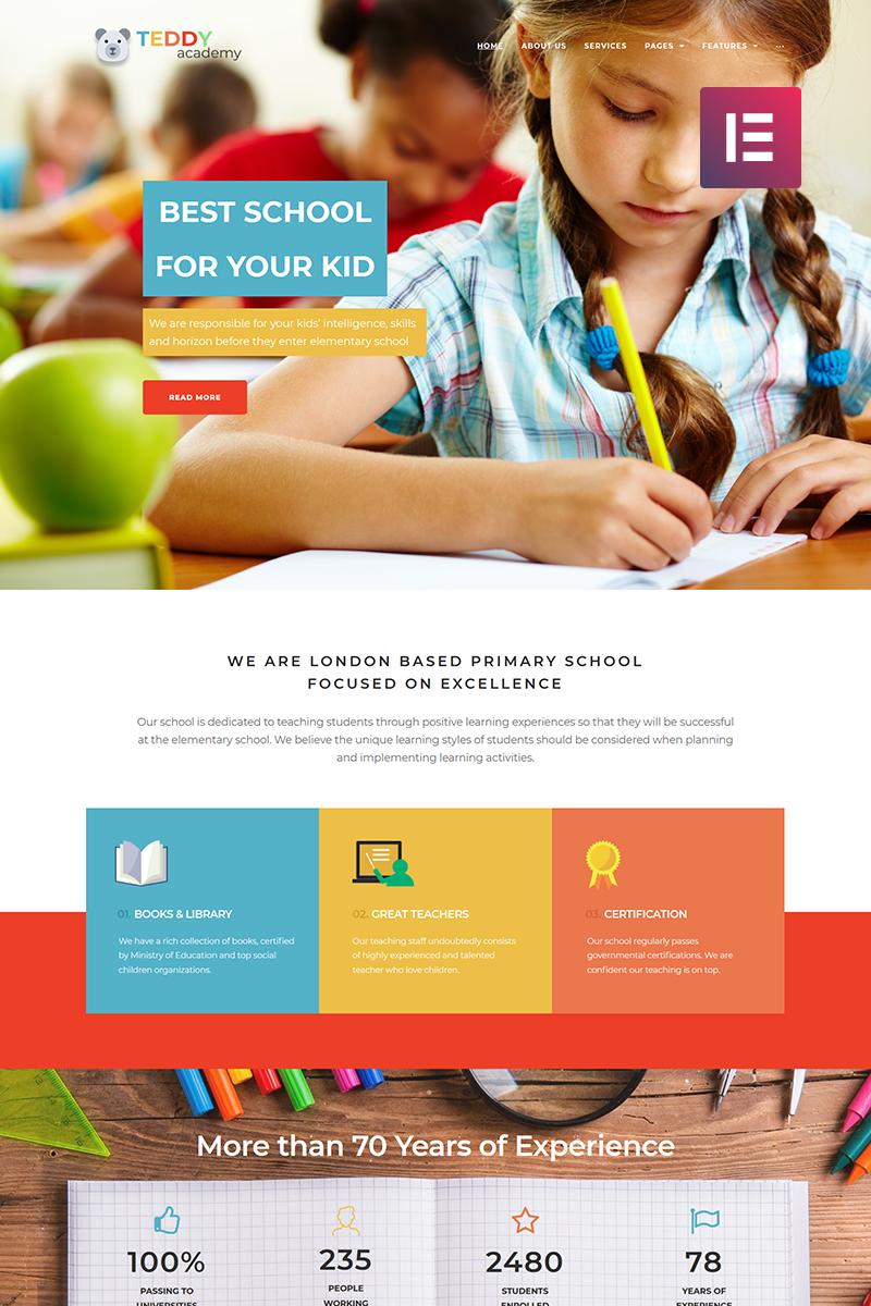 Responsivt Teddy Academy - Primary School Elementor WordPress-tema #69305