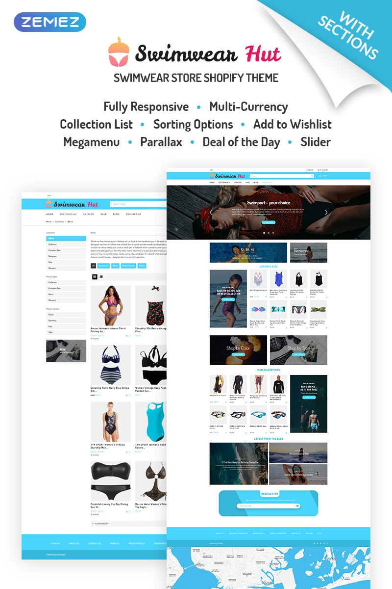 Swimwear Hut - Swimwear Store Shopify Theme - screenshot