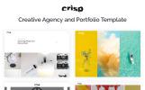 "Tema Siti Web Responsive #69318 ""Crisp - Vivid Designer Portfolio Multipage"""