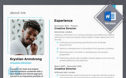 Krystian Armstrong - Creative Director Resume Template