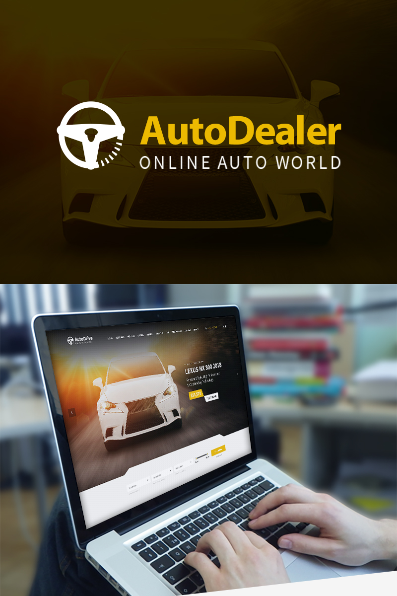 """Autodealer"" - WordPress шаблон №69483 - скріншот"
