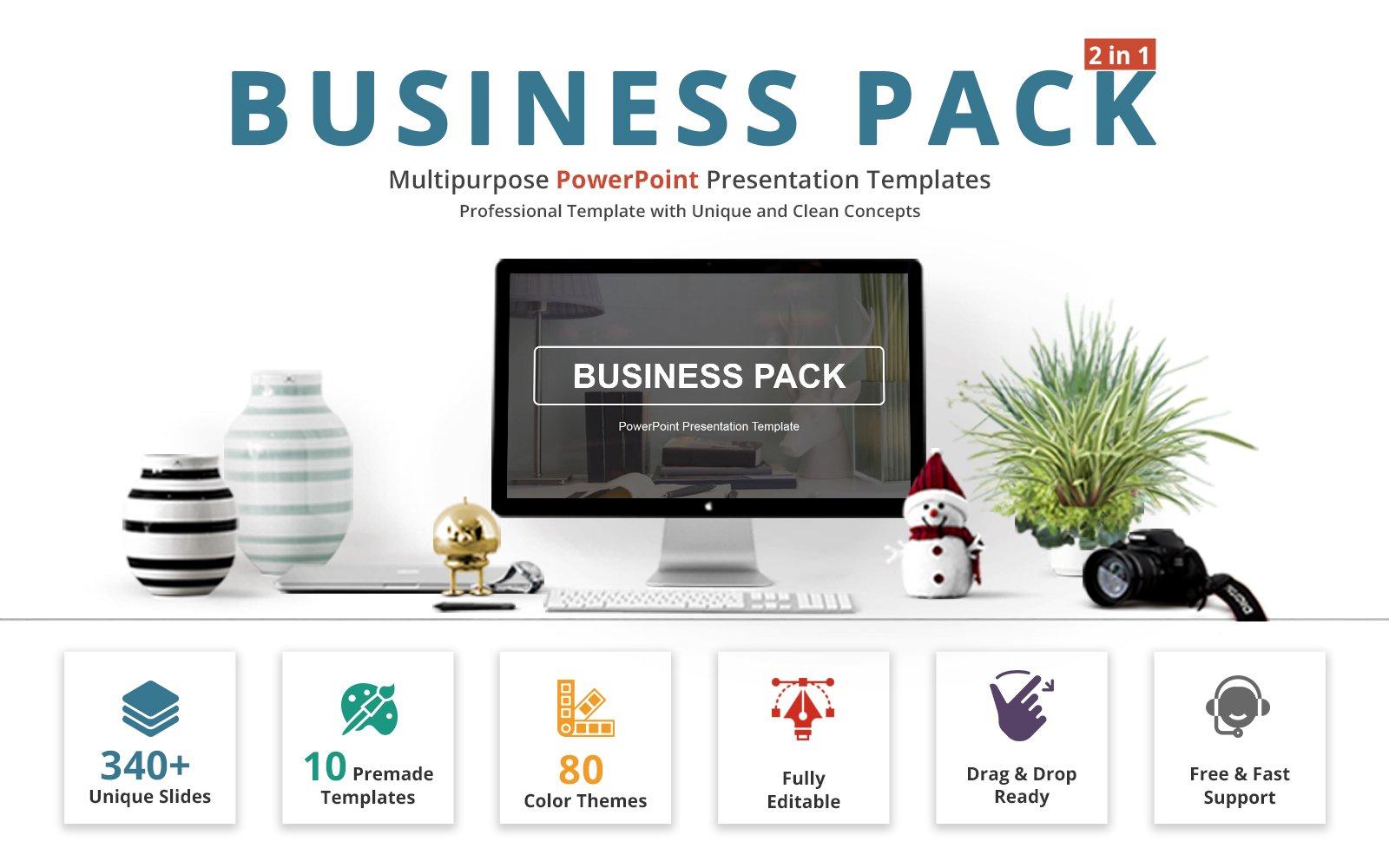 """""""Business Pack"""" modèle PowerPoint Premium #69412"""