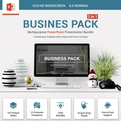 Business Pack PowerPoint Template #69412